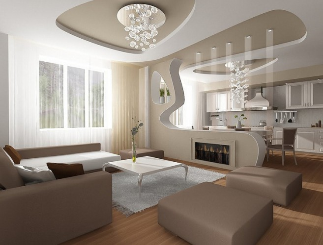 How To Combine Colors And Design Elements In This Open Space Check Out Our Ideas For Living Room With Kitchen Concept