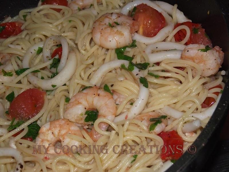 Спагети с морски дарове * Spagetti ai frutti di mare