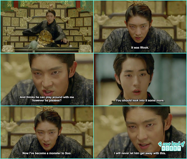 wang so in anger told baek ah that its all because of wook he become a monster in hae soo eyes- Moon Lovers Scarlet Heart Ryeo - Episode 18 (Eng Sub)