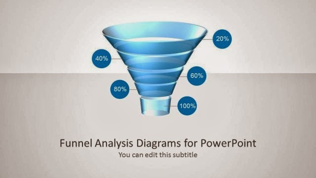 Funnel Diagram Glossy Style for PowerPoint