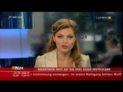 "DIE STEPHANIE PULS ""N24"" GERMAN TV CHANNEL IN BERLIN NEWS!...."