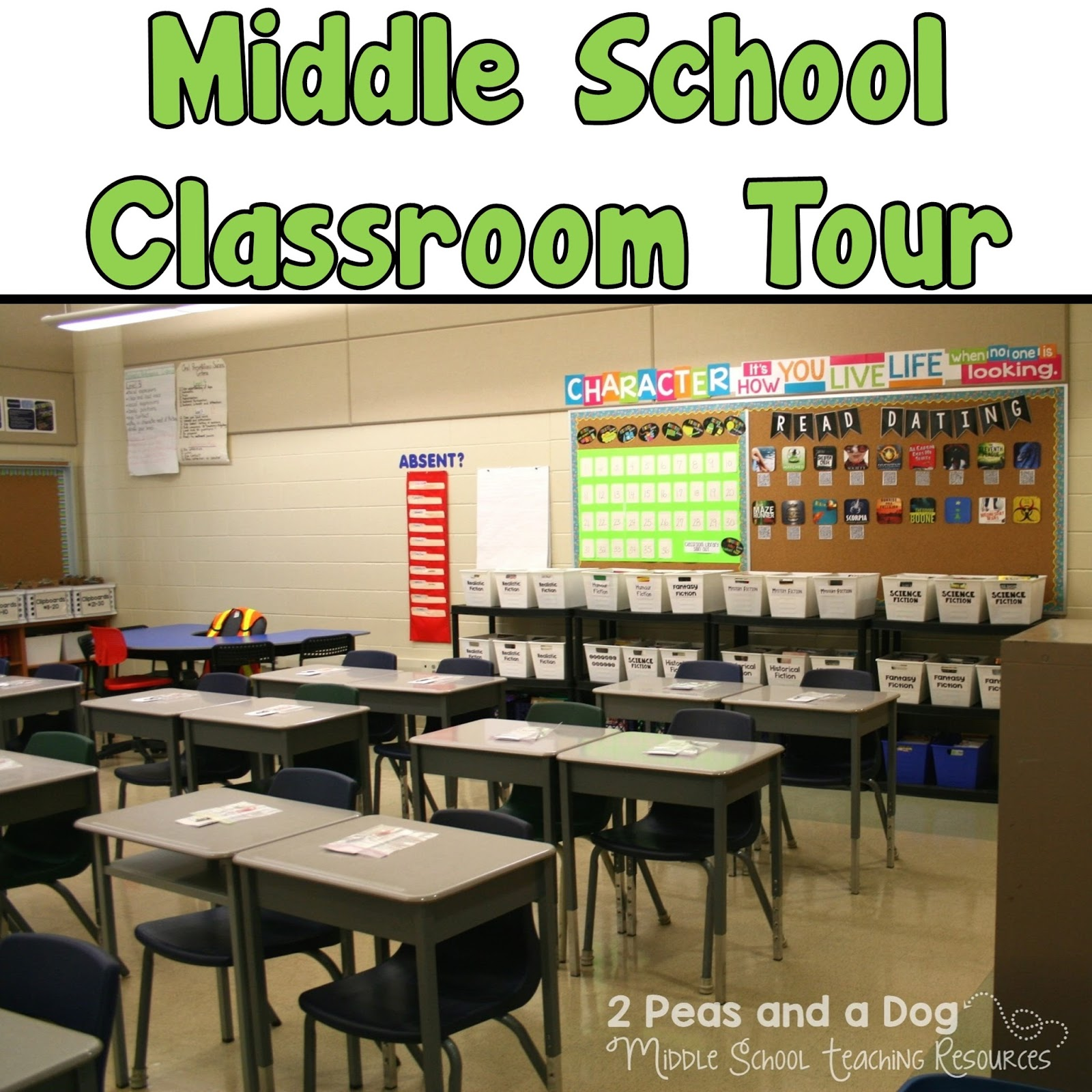 Innovative Math Classrooms ~ Middle school classroom set up ideas peas and a dog