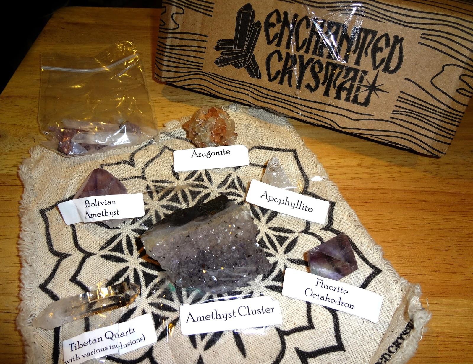 The Pagan Lotus: Subscription Review: The Enchanted Crystal Box