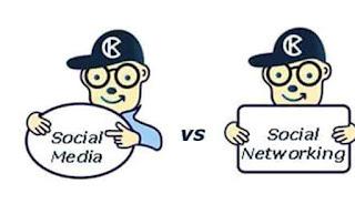 diferente intre social media si social networking
