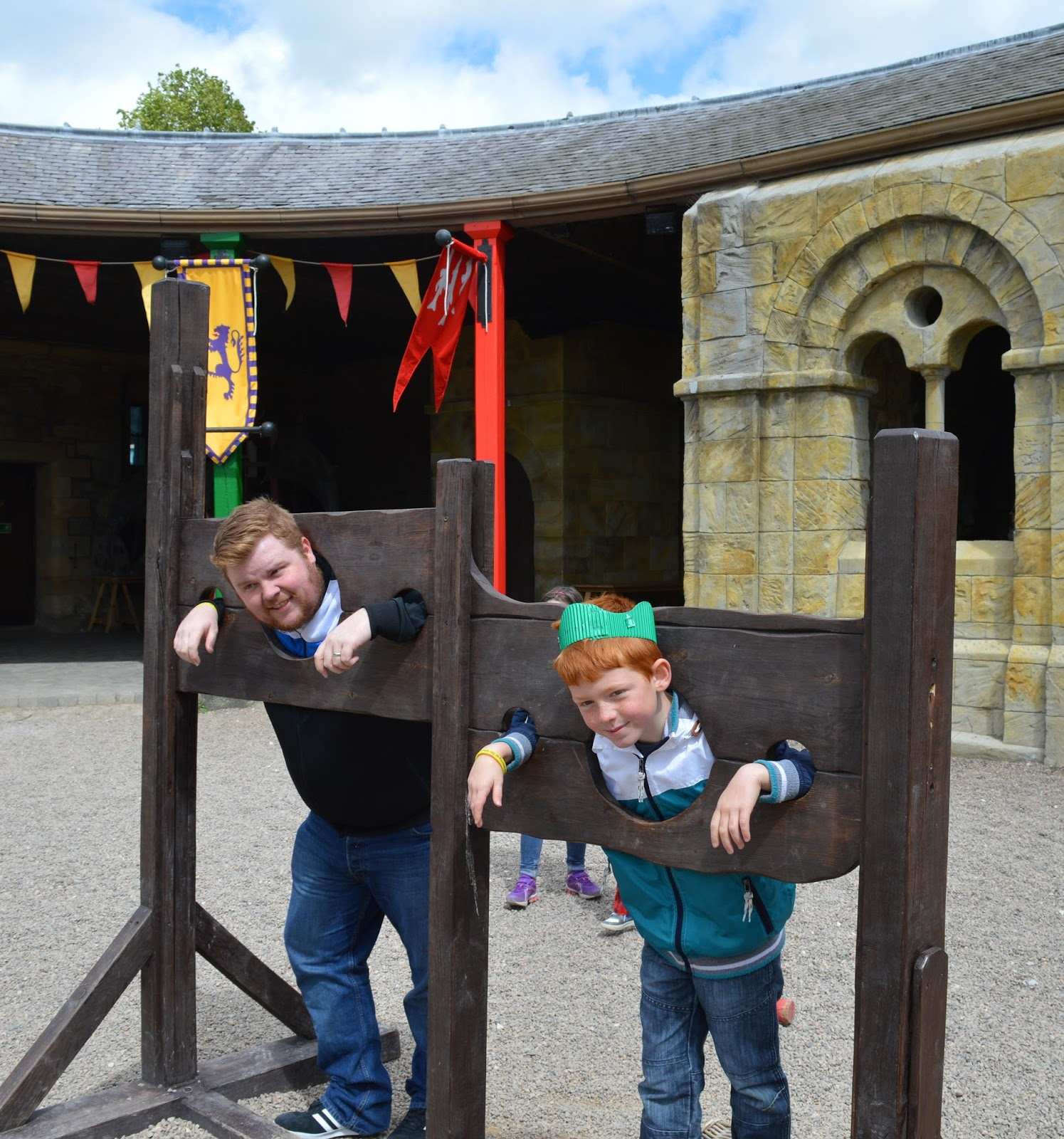 Knight's Quest - the stocks at Alnwick Castle