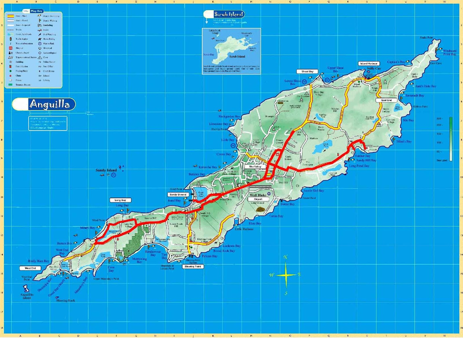 Mapas de Anguilla | Reino Unido