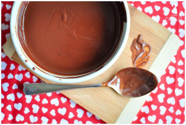 ganache de chocolate receita