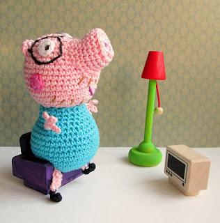 PATRON GRATIS DADDY PIG | PEPPA PIG AMIGURUMI 33747