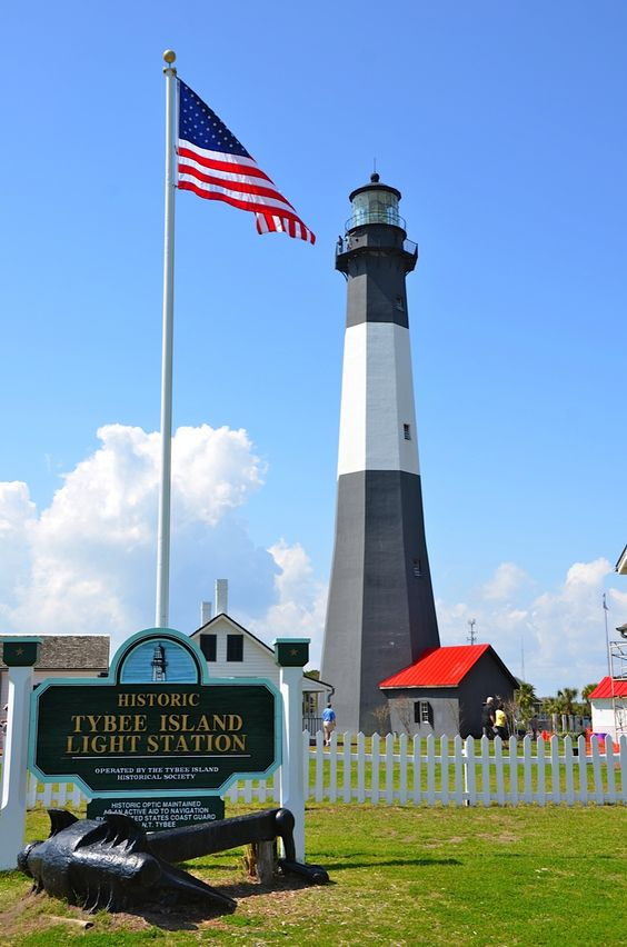 Tybee island lighthouse, Georgia, USA