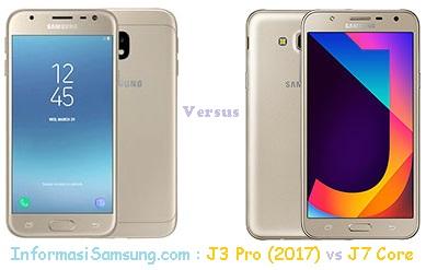 Perbandingan Harga dan Spesifikasi Samsung J3 Pro (2017) vs J7 Core