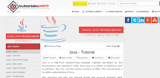 Belajar Java di Tutorialspoint