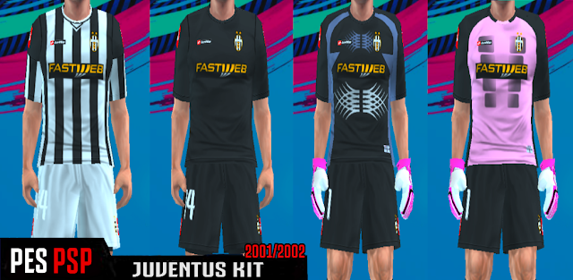 the latest a99c6 4a6eb Juventus Classic Kits 2001/2002 PES PSP (PPSSPP)