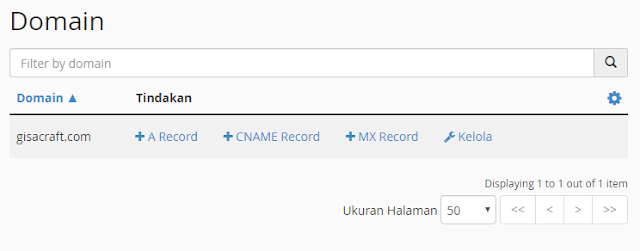 Menambah MX Records untuk Webmail