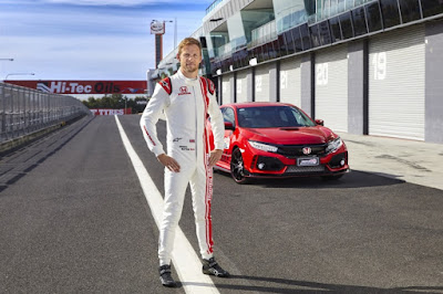 Jenson Button & Civic Type R