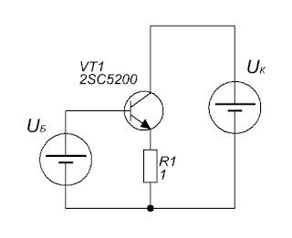 """Схема для эксперимента с нагревом радиаторов для усилителя на основе """"кристалла"""""""