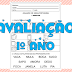 Avaliação Bimestral  1º ano de Língua Portuguesa