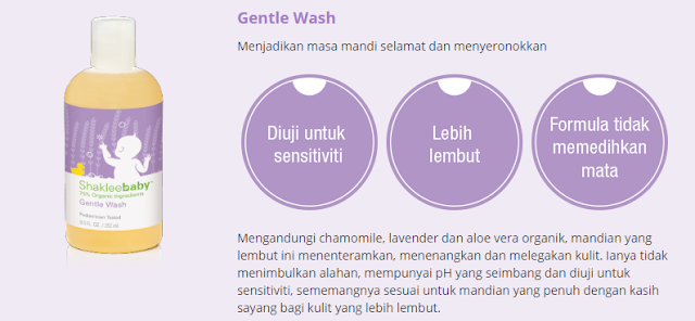 Set Shaklee Baby Gentle Wash