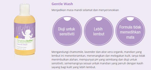 Set Shaklee Baby Gentle Wash