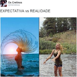 Expectativa x realidade sensualizando