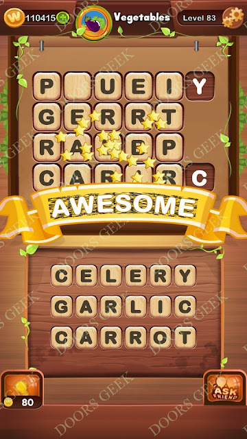 Word Bright Level 83 Answers, Cheats, Solutions, Walkthrough for android, iphone, ipad and ipod