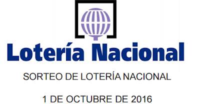 loteria nacional sabado 1 octubre 2016