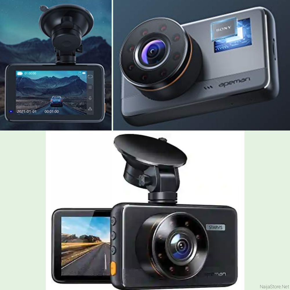 Apeman Vehicle Camcorder: 3Inch Wide-Angle Car Dashboard Video Camera with Motion Detector - C660