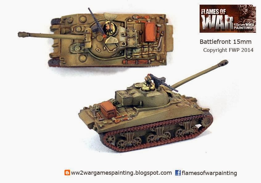 Painted WW2 Tanks. British Firefly VC Battlefront 15mm