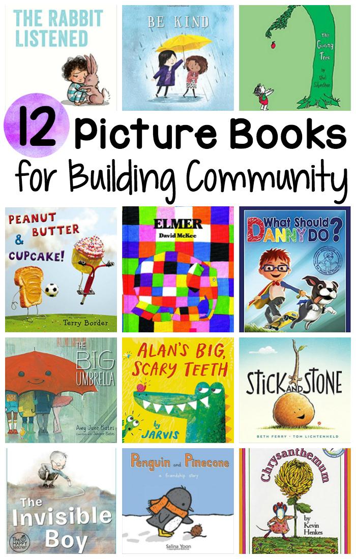 12 Books to Build Classroom Community | TheHappyTeacher