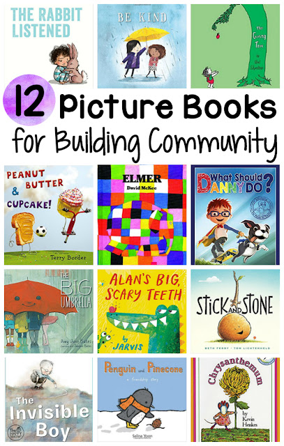 Collection of 12 picture books for building classroom community