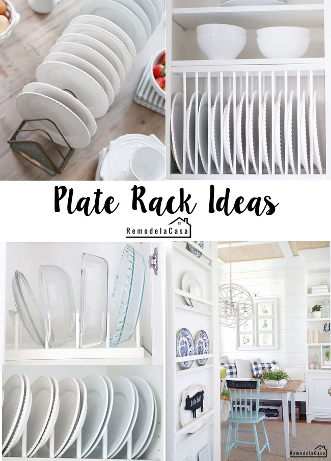 diy plate rack - kitchen