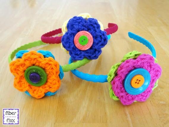 Fiber Flux Button Flower Headbands Tutorial Video