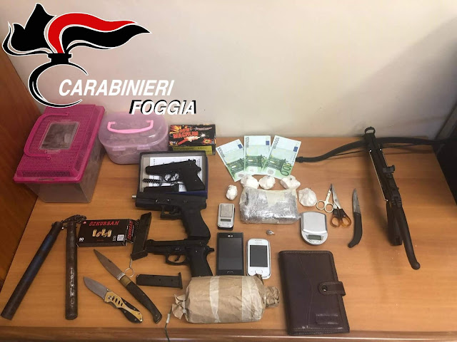 """Scoperta a Manfredonia dai Carabinieri una """"Santa Barbara"""" con droga"""