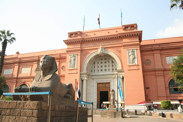 Egyptian Museum Tahrir Square, Cairo, Egypt.