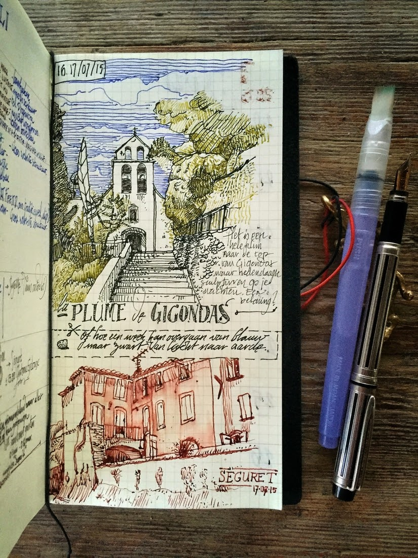 04-Gigondas-Séguret-dessinauteur-Urban-Sketches-and-Travel-Journals-on-Moleskine-www-designstack-co