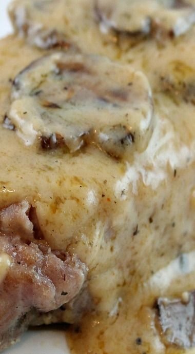 Garlic Butter & Mushrooms Baked Pork Chops Recipe