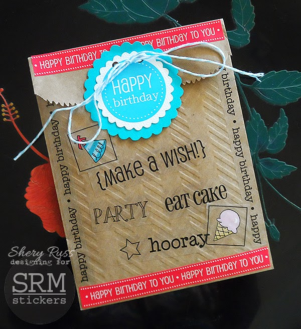 SRM Stickers - Shery Russ - #birthday #bag #embossed #stickers #srmstickers #twine