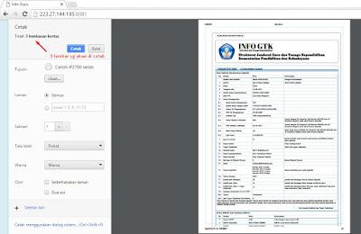 Cara Print Info GTK/Jumlah Jam Di Info Guru Dengan Lengkap
