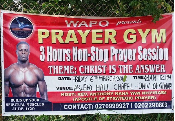 prayer gym ghana advert