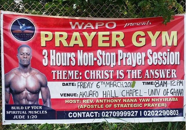 prayer gym ghana advert