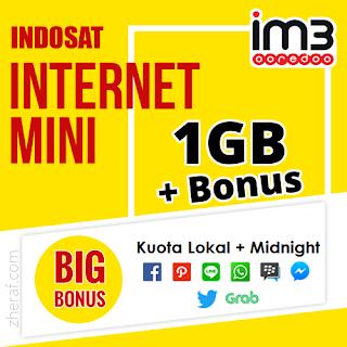 Inject Paket Internet Mini Indosat 1GB