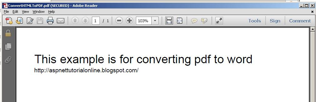 Converting HTML to PDF using iTextSharp dll in ASP NET With