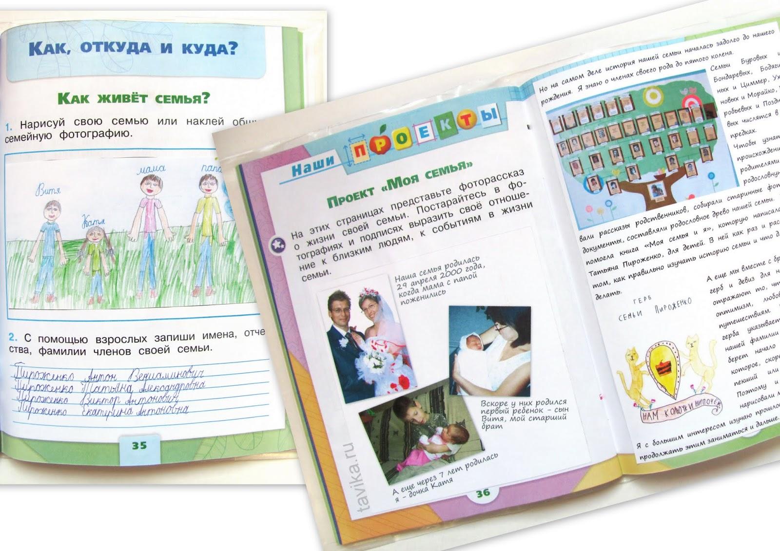 """Рассказ о семье для школьного проекта """"Моя семья"""""""