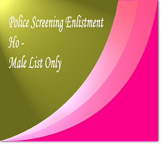 Ho male list for Police screening