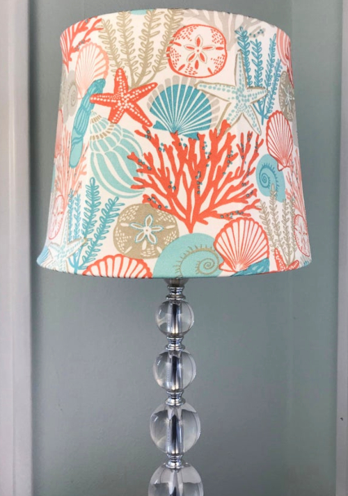 Coastal Fabric Lampshade