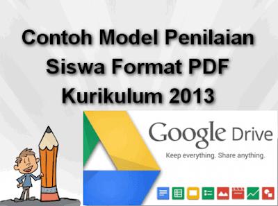 Contoh Model Penilaian Siswa Format PDF Kurikulum 2013