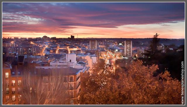 Atardecer de Madrid desde el Puente de Segovia