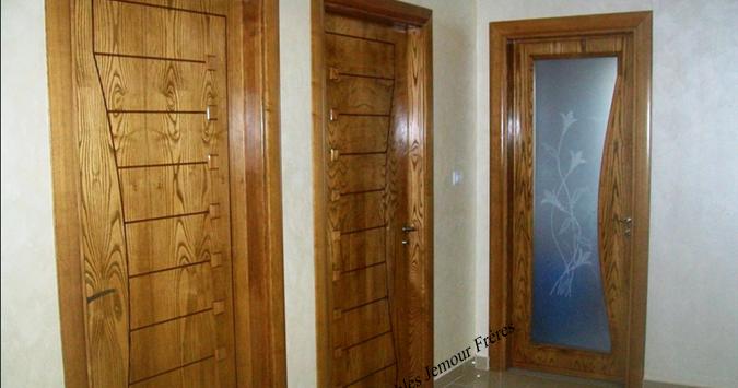 portes d 39 int rieur de villa moderne en bois noble et mdf plaqu soci t meubles jemour fr res. Black Bedroom Furniture Sets. Home Design Ideas