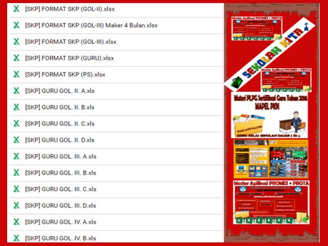Unduh Kumpulan Aplikasi SKP Lengkap Format Excel