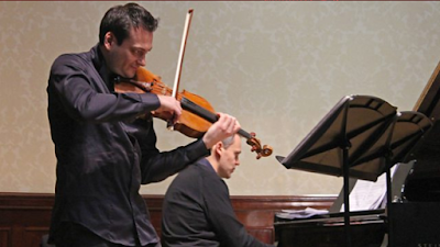 Maxim Rysanov & Ashley Wass in rehearsal at the Wigmore Hall - photo BBC