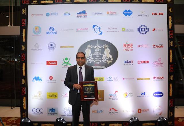 Mr Kiran Koteshwar CFO SpiceJet with the Greatest CFO Award